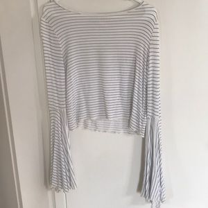 Striped flare long sleeve